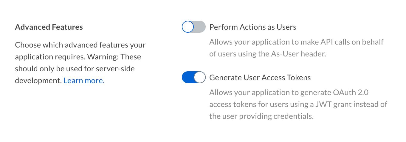 ユーザーアクセストークン - Box開発者向けドキュメントポータル